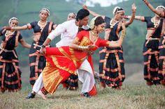 Saree worn specifically for the Tamil dance form, Bharatanatyam - Chennai Express Bollywood movie