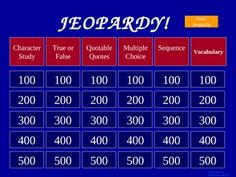 We read Charlotte's Web in 3rd grade. Here is a Charlotte's Web Jeopardy Game!