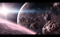Planets and asteroids wallpaper Space wallpapers Space Artwork, Wallpaper Space, Computer Wallpaper, Galaxy Wallpaper, Space Planets, Space And Astronomy, Space Images, Hd Desktop, Background Pictures