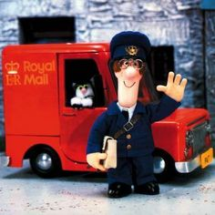 Postman Pat and his black and white cat!