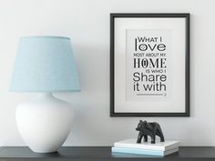 Quote Print Home Print Family Print Wall Art Print Family Quote Prints, Wall Art Prints, Family Print, Black And White Wall Art, Scandi Style, Minimalist Art, Large Prints, Family Quotes, Printable Wall Art