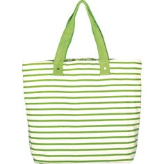 green stripe reversible canvas tote bag from MUSEUM OUTLETS  #greenstripe  #totebag