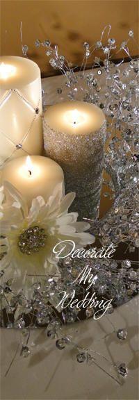 DECORATE MY WEDDING Crystal Centerpiece Stand Adora