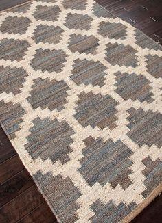 Jaipur Feza Souk Flat Weave Moroccan Pattern Hemp/Jute Handmade Rug Medium Gray, Size: 2 x 3 ft. Moroccan Area Rug, Jaipur Rugs, Rug World, Moroccan Pattern, Rustic Rugs, Modern Rustic, Urban Rustic, Jute Rug, Woven Rug
