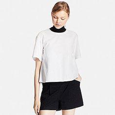 Women's Extra Fine Cotton Flared Short Sleeve Blouse