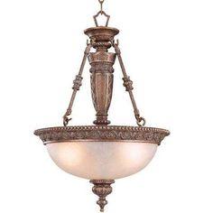 3-Light Bronze Pendant