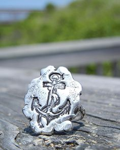 Nautical Jewelry Nautical Ring Nautical Silver by HappyGoLicky / PIN10