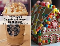 Have a Starbucks Secret Menu Gingerbread House Frappuccino! Recipe here: http://starbuckssecretmenu.net/starbucks-secret-menu-gingerbread-house-frappuccino/
