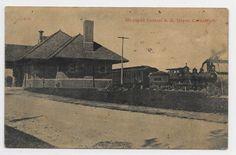 Caro Michigan Michigan Central Railroad Depot 1910 RR Station HJ32 | eBay