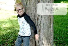 Boy, Oh Boy, Oh Boy Crafts: Sewing For Kindergarten: Raglan Sweatshirt (Free Pattern)  Size 6 years