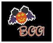 Halloween Mickey Mouse Jack O Lantern Pumpkin Bat Wings Mickey Ears Beaded Brick Stitch Pattern by MigotoChou, $5.00