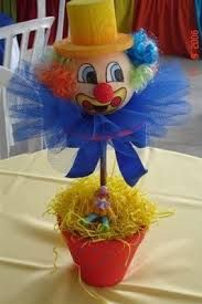 Resultado de imagem para festa circo centro de mesa