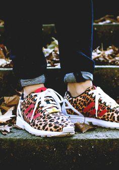 Adidas Zx Flux Leopard Pink