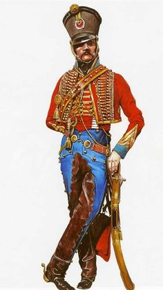 an officer of the French Hussars #Hussar #jacket #uniform