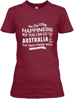 You Can Not Buy Happiness Cardinal Red Women's T-Shirt Front