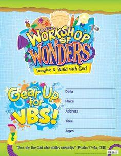2014 VBS Workshop Of Wonders Imagine A Build With God