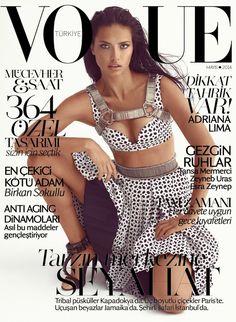 Vogue's Covers: Adriana Lima