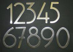 Self Adhesive 3 Stainless Steel Door Numbers Letters