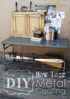 How to work with Metal Coating Paint. Great tutorial on how to turn any surface into metal!