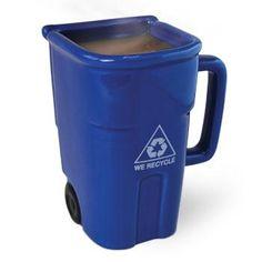 Recycling Trash Can Mug