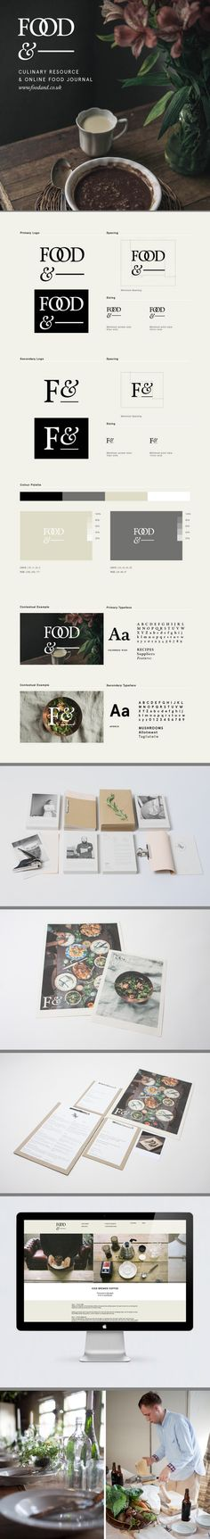 food& visual identity | #stationary #corporate #design #corporatedesign #identity #branding #marketing < repinned by www.BlickeDeeler.de | Take a look at www.LogoGestaltung-Hamburg.de
