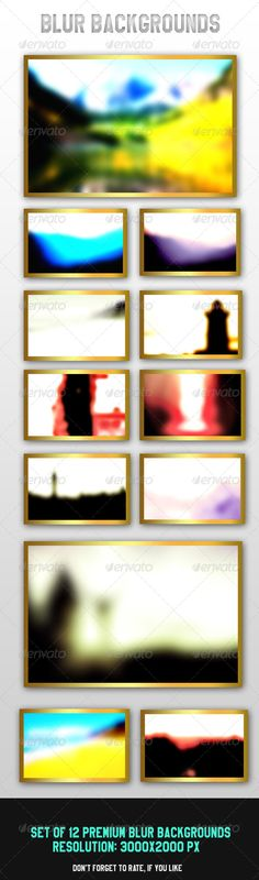12 Blur Backgrounds by onesmfadesign Premium Blur Backgrounds HDFiles Included: 12 JPG Files ( 30002000 pixels)Readme.txt You can use them in your graphic and webdesi