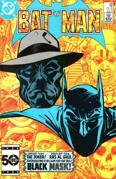 Batman (Batman )): Featuring the first appearance of Black Mask! After losing control of his company, cosmetics king Roman Sionis becomes the criminal known as Black Mask in order to take revenge. Continued in DETECTIVE COMICS Comic Book Villains, Dc Comic Books, Comic Book Covers, Comic Art, Dc Comics, Batman Comics, Roman Sionis, Dragon Comic, Al Ghul