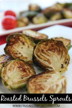 Roasted Brussels Sprouts Recipe - Simple and Easy Dinner Side #roastedbrusselssprouts #brusselsspourts #recipe #veggie #vegetable