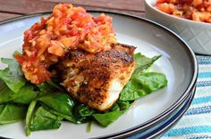 Combine fresh homemade peach salsa with pan seared Blackened Red Snapper for the ultimate weekday dinner!