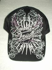 GENUINE HARLEY-DAVIDSON LADIES BLACK BASEBALL CAP w/ CRYSTALS and BLING