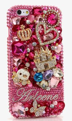 Wonderland Personalized Name & Initials Design crystals case cover made for iPhone 6, iPhone 6s/ 6s Plus, iPhone 4/ 4s, Samsung Galaxy S3/ S4/ S5/ S6 Edge, Samsung Galaxy Note 2/ 3/ 4/ 5 and other phones/devices; Grab this luxury phone case at http://luxaddiction.com/collections/personallized-designs/products/wonderland-personalized-name-initials-design-style-pn_1078
