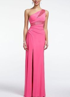 David's Bridal One Shoulder Jersey Prom Dress with Slit Detail Style 211S33040, Hot Pink, 9 David's Bridal,http://www.amazon.com/dp/B00BFSNDCS/ref=cm_sw_r_pi_dp_Aozjrb12F4MKX1S7