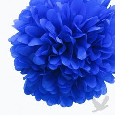 #blue #wedding Royal Blue Tissue Paper Pom Poms BULK (Set of 4)