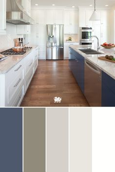 The secret to balancing colors in the kitchen is finding the neutral hues that complement them best. For example, our Summerhill™ design is a perfect match for a range of shades from navy to taupe, achieving a sharp, timeless look.