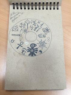 амулеты, руны, символика как атрибуты духовного перерождения (юбка, вид сверху)