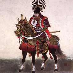 """, February 1536 or March 1537 – September was a preeminent daimyo, warrior, general and politician of the Sengoku period who is regarded as Japan's second """"great unifier. Japanese History, Japanese Culture, Japanese Prints, Japanese Art, Tokugawa Ieyasu, Sengoku Period, Samurai Artwork, Great Warriors, Samurai Warrior"""