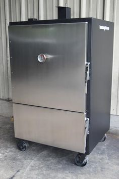 Insulated-Smokers from Lone Star Grillz Barbecue Pit, Bbq Grill, Grilling, Bbq Equipment, Natural Charcoal, Smoke Grill, Smoking Recipes, Summer Bbq, Smoking Meat