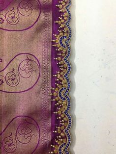 40 Ideas Crochet Edging And Borders Tassels Saree Tassels Designs, Saree Kuchu Designs, Bridal Blouse Designs, Rangoli Border Designs, Crochet Baby Cocoon, Aari Embroidery, Embroidery Suits Design, Saree Border, Designer Blouse Patterns