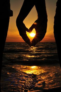 Sunset in on Captiva is the perfect place for love...