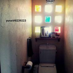 トイレはなんだか異空間/トイレ/トイレの棚/ガラスブロック/バス/トイレのインテリア実例 - 2014-06-24 16:47:17   RoomClip(ルームクリップ)
