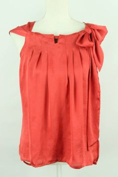 87c3a9144 Blusa de seda atada terracota    MeCanse  Vestidos