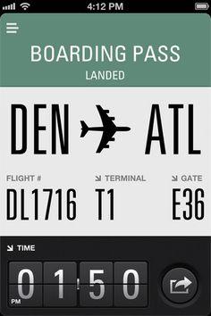 Flight Card  http://itunes.apple.com/us/app/flight-card/id454594653?mt=8