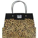 Brown & Tan Leopard Purse Gift Bag