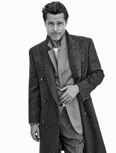 Brad Pitt Advertising Campaign Fall/Winter 2020 | Brioni.com Brad And Jennifer, Bratt Pitt, Celebrity Skin, Mens Style Guide, Star Wars, Celebrity Portraits, Gentleman Style, White Man, Actors & Actresses