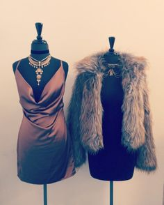 Bronze Goddess   Parker Dress/Jayda Choker  Jackie Faux Fur Jacket/Destiny Choker  Use Code: DRESS25 to receive 25% off all dresses!