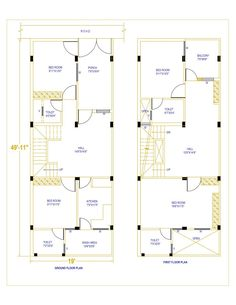 20 ' X House Plan - Housewala 20x30 House Plans, Four Bedroom House Plans, Tuscan House Plans, Indian House Plans, Family House Plans, 2bhk House Plan, Model House Plan, House Layout Plans, Duplex House Plans