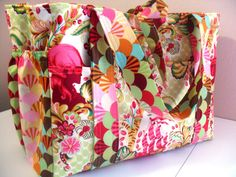 Tula Pink Parisville Large Diaper Bag by fromnancy on Etsy, $96.00    Wish I could make this!