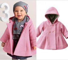 CYHWR New 2017 Autumn kids jacket Children's coat sleeve fashion baby coat girl's coat baby jacket Baby Outfits, Outfits Niños, Toddler Outfits, Kids Outfits, Fashion Outfits, Childrens Coats, Kids Coats, Girls Winter Jackets, Quoi Porter