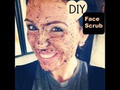 DIY Face Scrub (great for ALL skin types) coffee grinds,1 egg, brown sugar, salt,honey