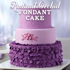 Combine Wilton Violet and Rose Icing Color to create shades of Radiant Orchid Fondant!